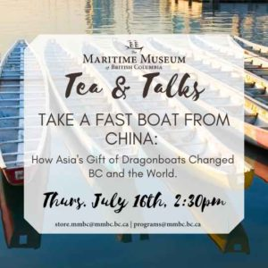Tea and Talks: Take a Fast Boat From China @ Zoom Video Conferencing