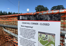 Cedar Hill Corner, or the UVic Dog Park, has closed to the public as the university decides what to do with the land