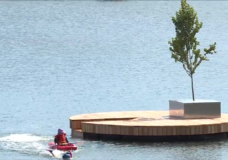 A dock, a floating tree, and a beer: A mystery appears on the Gorge Waterway