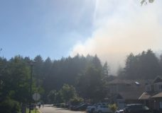 Wildfire under control in Mill Hill Regional Park in Langford