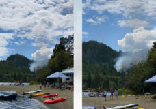 New wildfire breaks out on Vancouver Island near Horne Lake