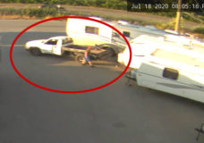 Nanaimo RCMP seeking public's help identifying travel trailer thief (VIDEO)