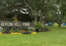 Man arrested in Beacon Hill Park for allegedly choking a woman, threatening her with a gun
