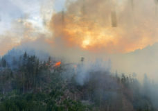 The Green Mountain wildfire southwest of Nanaimo. (File photo)
