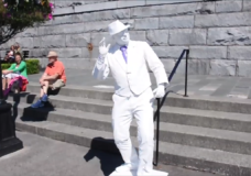 Family and friends remember the man behind 'Plasterman' living statue