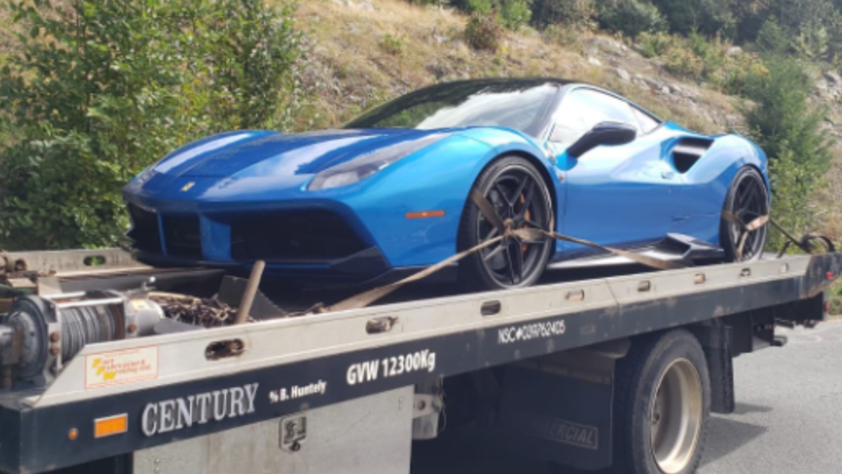 Rcmp In B C Impound Ferrari After It Was Clocked Going 109 Km H Over The Speed Limit