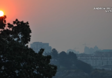 Red sun and smoky skies greet Island residents Tuesday morning