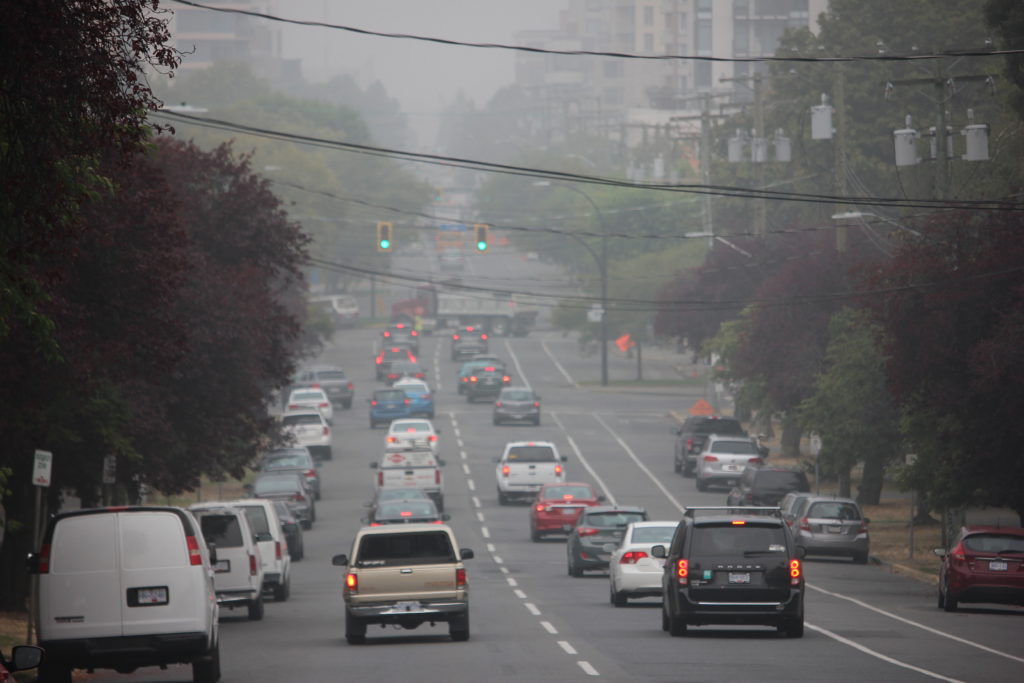Smoky skies bulletin in B.C. extended once again due to U.S. wildfire smoke