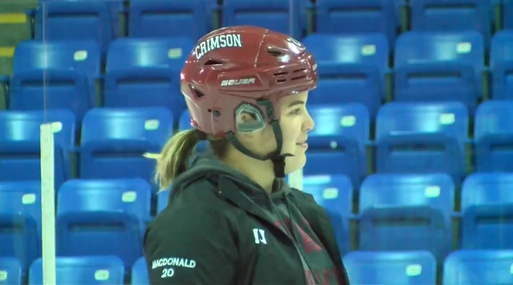 Maryna MacDonald on the ice.