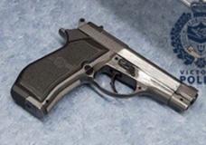 Victoria police arrest three, seize replica firearm