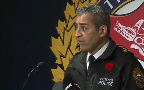 5 arrested after police chief Del Manak assaulted at memorial event in Victoria