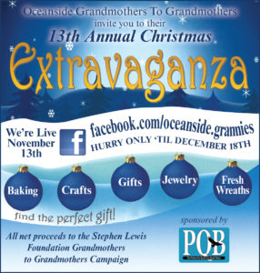 13th Annual Christmas Extravaganza @ Oceanside Grandmothers 13th Annual Christmas Extravaganza
