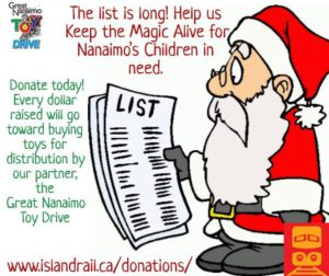 Great Nanaimo Toy Drive - Online Donations @ Island Corridor Foundation