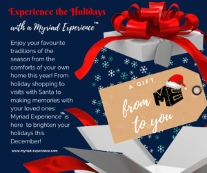 Experience the Holidays: A Gift from ME to You @ To be enjoyed from the comfort and safety of your own home!