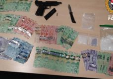 Loaded firearm, cash and drugs seized as part of stolen bike investigation: VicPD