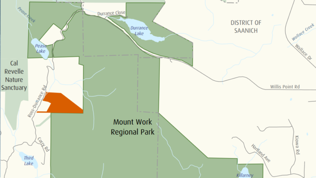 CRD adds 12 hectares of undeveloped land to Mount Work Regional Park