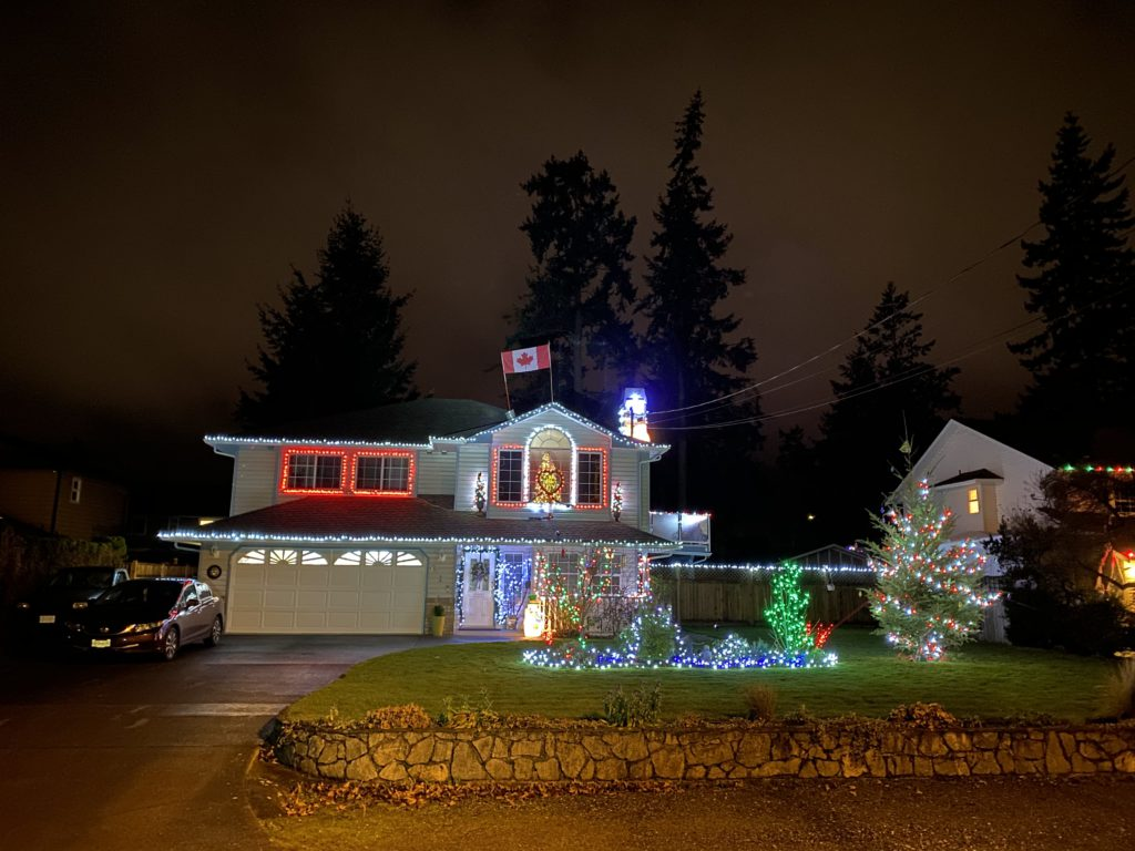 CHEK Light up, Mike in Downtown Colwood