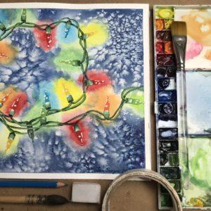 Adult Winter Online Watercolour @ online