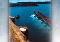 Refloated barge sinks again in Port McNeill, releasing diesel
