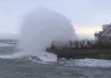Storm batters Greater Victoria's coastline