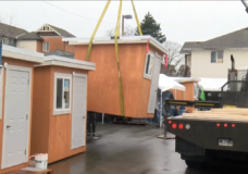 Emergency shelter units for the homeless arrive in the Cowichan Valley