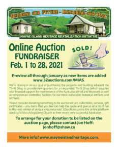 Mayne Island Heritage Revitalization Initiative - Online Auction Fundraiser-32auctions.com @ Mayne Island Agriculture Society
