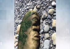 Rare Indigenous stone pillar found on Victoria beach