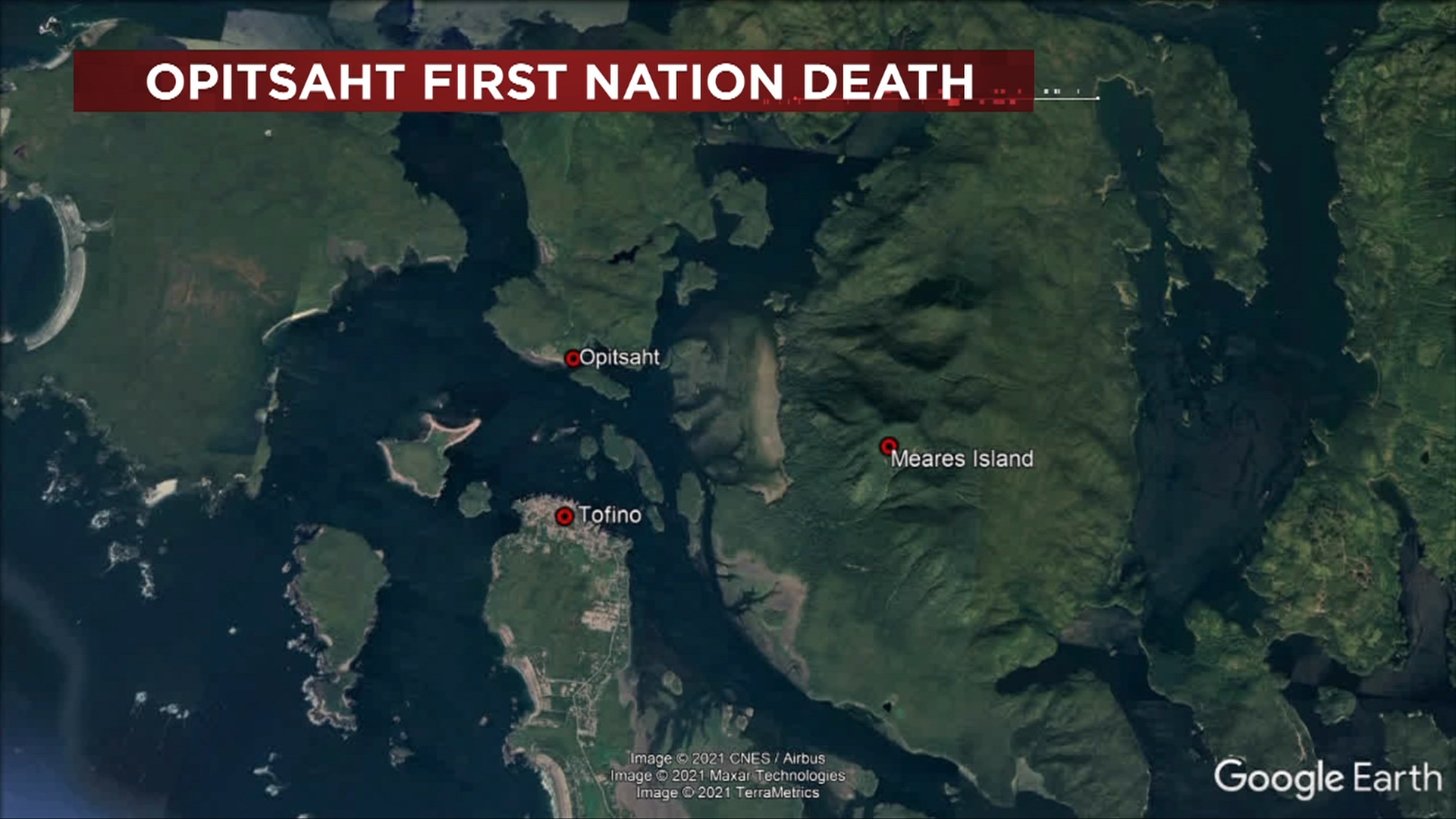 Map of Opitsaht First Nation