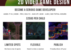 Summer Camp Video Game Design (Publish Your Game at the end!) (Ages7-14)