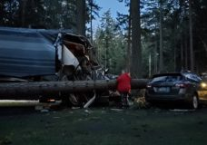 Tree falls on RV in Parksville during weekend windstorm