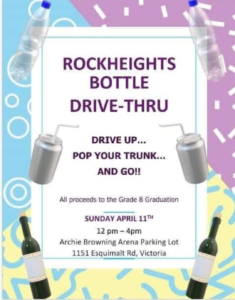 Rockheights Middle School Bottle Drive @ Parking Lot Esquimalt Archie Browning Arena
