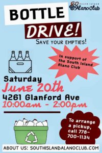 Bottle Drive for Recovery @ Bottle Depot Sorting Lot