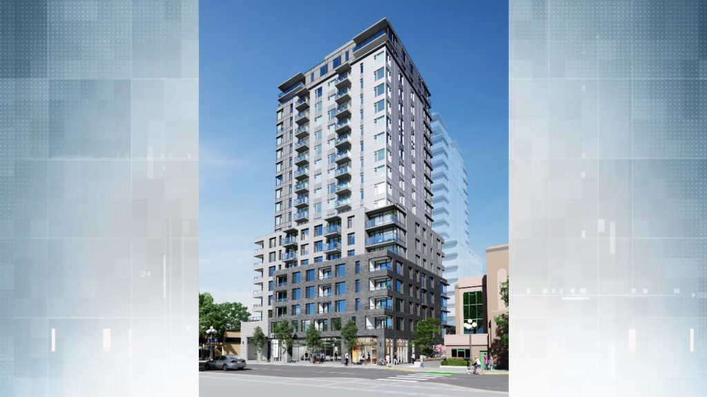 New completed condo tower in Victoria targeting middle-income households