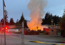 'They are absolutely devastated': New distillery in Sooke burns down in early morning fire
