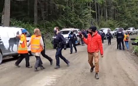 RCMP arrest eight more at encampment near Port Renfrew, 214 total