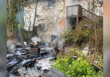 Backyard shed fire sparks arson investigation in Port Hardy