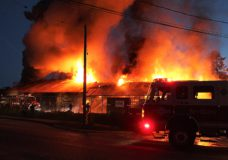 Firefighters battle early morning blaze at plywood store on Salt Spring Island