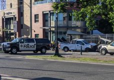 Man arrested after attempted theft of City of Victoria vehicle leads to early morning collision