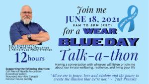 Wear Blue Day Talk-a-Thon @ Virtual Event