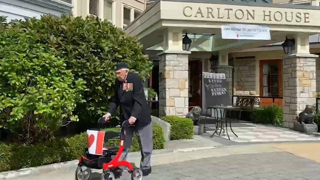 Why a 102-year-old war veteran is walking 102 laps around his courtyard
