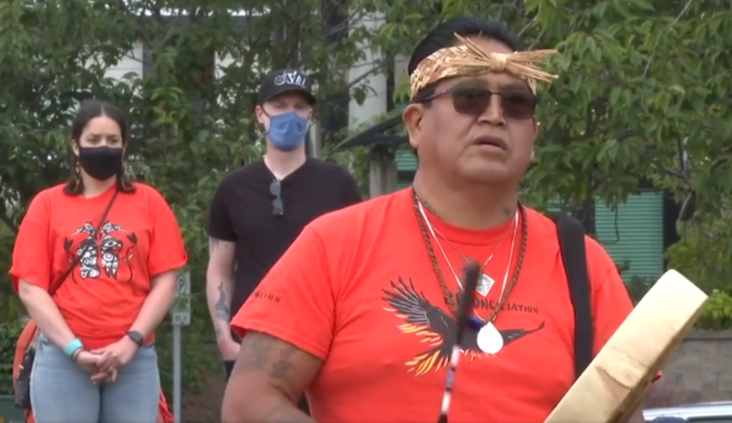 A day to listen and reflect: Hundreds walk to BC Legislature on Canada Day to honour residential school victims