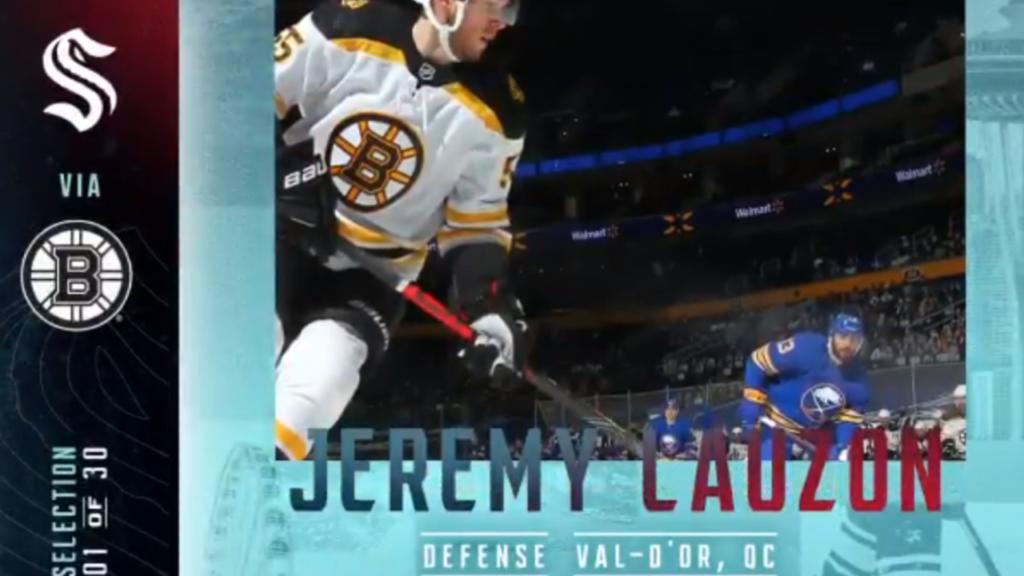 Seattle Kraken kick off expansion draft by taking Bruins' Lauzon