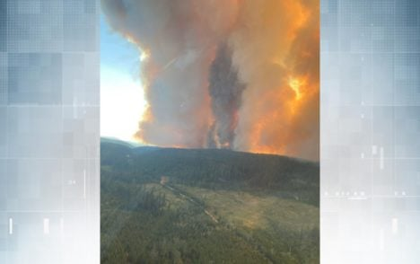 Large wildfire flares overnight west of Kamloops as more help on the way