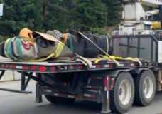 Burned totem pole removed from Malahat lookout for repairs