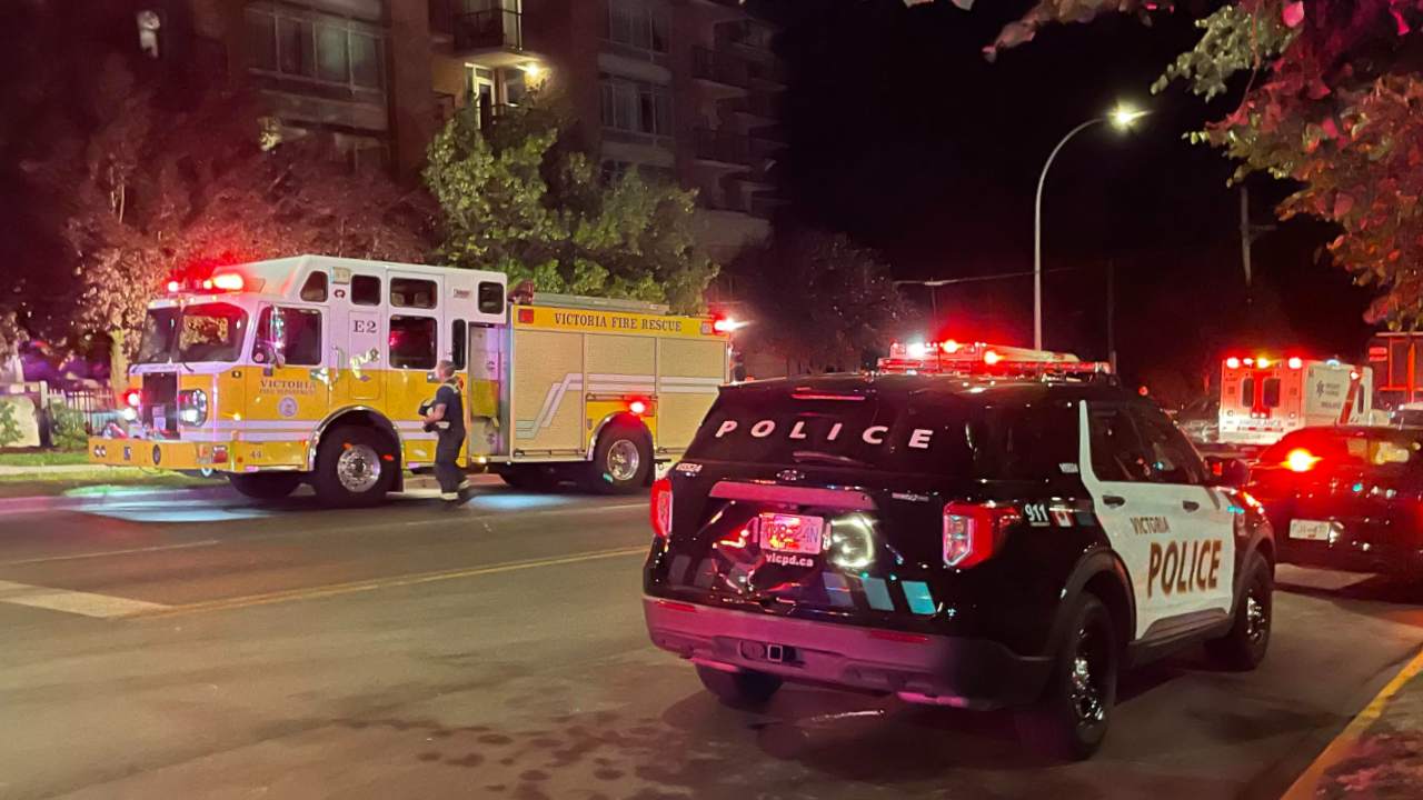 Pedestrian taken to hospital after getting struck by motorist in Victoria