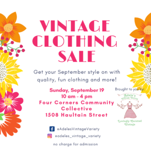 Adele's Annual Vintage Variety Sale @ 4 Corners Community Collective