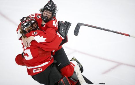 Canadian women's hockey team kicks off nine game, pre-Olympic series against U.S.