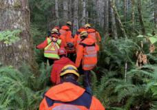 Hunter rescued after falling on rocks near Cook Creek