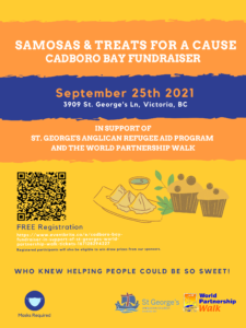Cadboro Bay fundraiser in support of St. Georges & World Partnership Walk @ St. George's Church