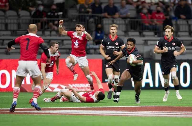 Langford-based Canadian men's rugby sevens team shows potential with sixth place finish in Vancouver